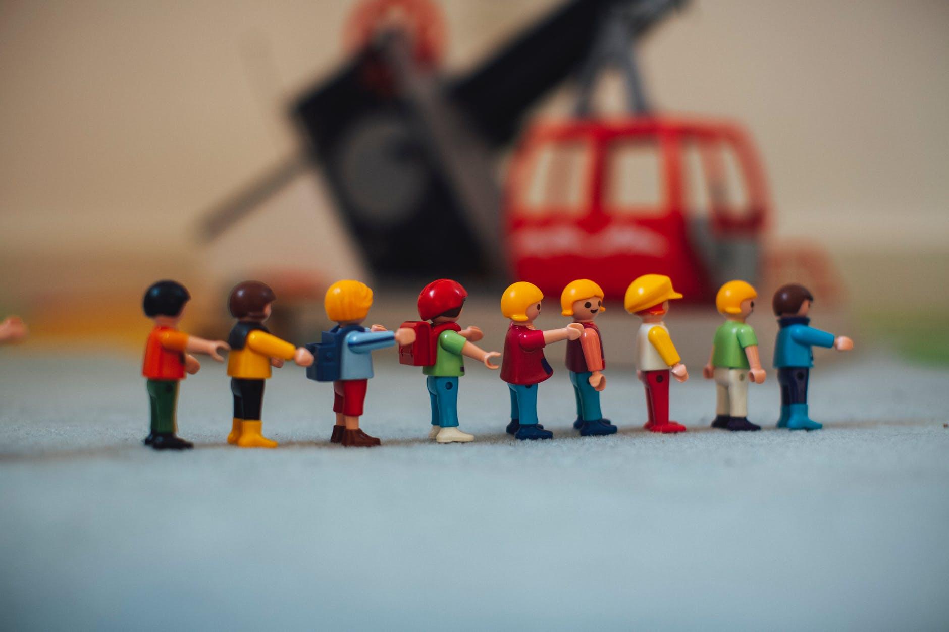 photo of lego toy miniatures
